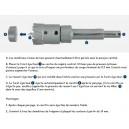Porte-outil avec éjection automatique pour trépan à plaquette carbure 14 à 100mm